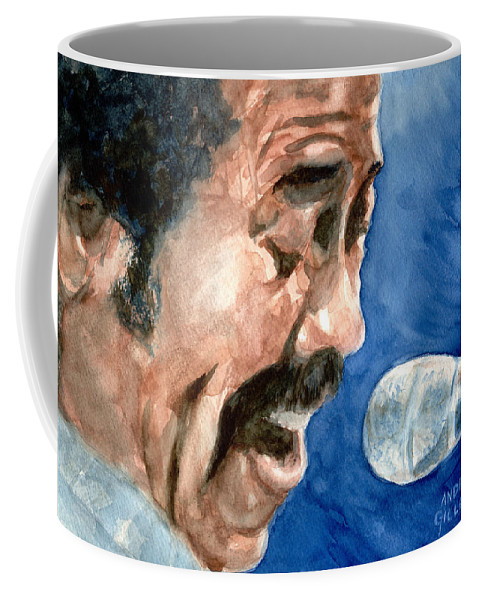 Allen Toussaint Coffee Mug featuring the painting Allen Toussaint by Andrew Gillette