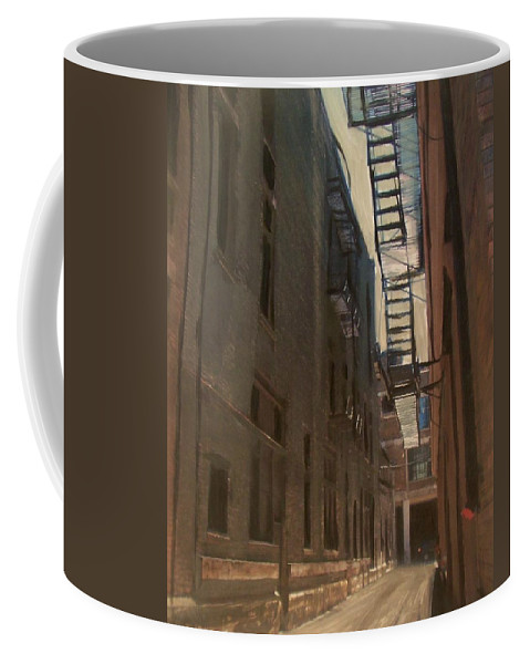 Alley Coffee Mug featuring the painting Alley Series 5 by Anita Burgermeister
