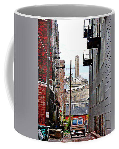 Cityscape Coffee Mug featuring the photograph Alley by Steve Karol