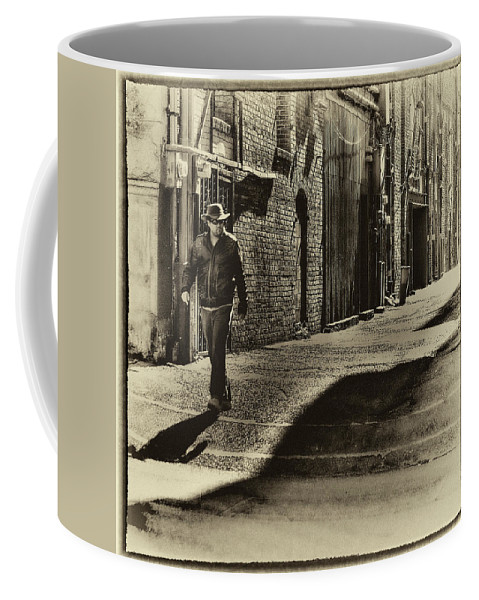 Alley Coffee Mug featuring the photograph Alley Stroll II by David Patterson