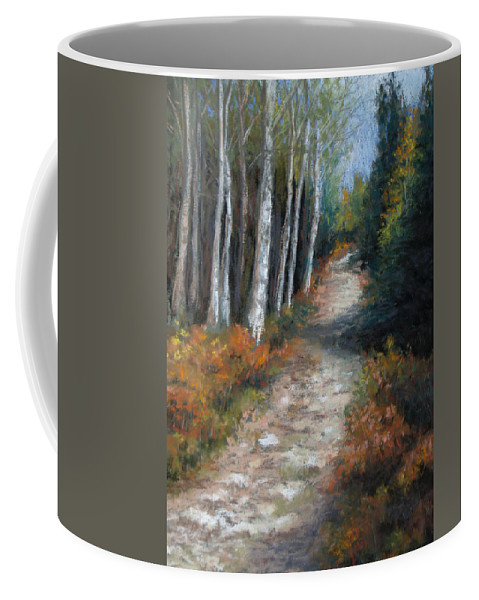 Landscape Coffee Mug featuring the painting Almost Autumn by Susan Jenkins