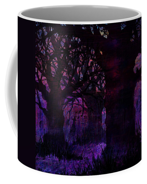 Abstract Coffee Mug featuring the digital art Almost Dinnertime by Rachel Christine Nowicki
