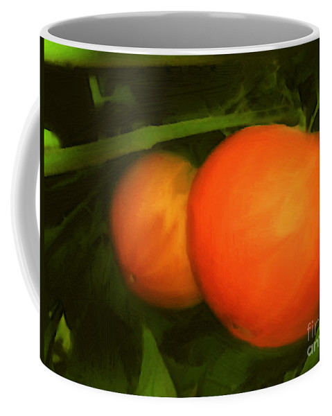 Red Coffee Mug featuring the painting Almost Ready by RC DeWinter