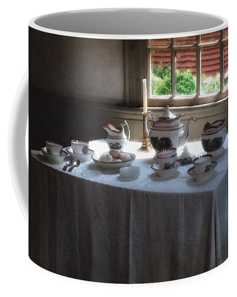 Americana Coffee Mug featuring the painting Almost Tea Time by RC DeWinter