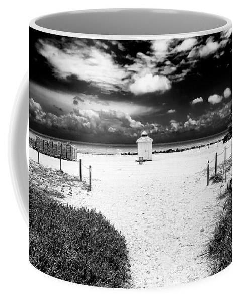 Almost There In South Beach Coffee Mug featuring the photograph Almost There In South Beach by John Rizzuto