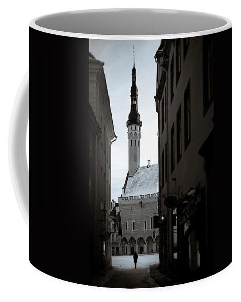Tallinn Coffee Mug featuring the photograph Alone In Tallinn by Dave Bowman