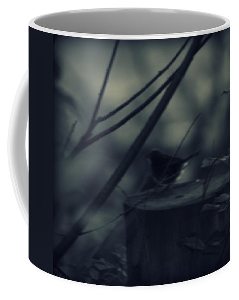 Bird Coffee Mug featuring the photograph Alone In The Darkness by Frances Lewis