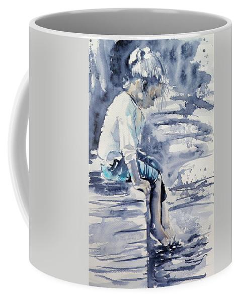 Alone Coffee Mug featuring the painting Alone by Kovacs Anna Brigitta