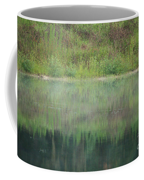 Nature Abstract Coffee Mug featuring the photograph Along The Edge Of The Pond by Carol Groenen