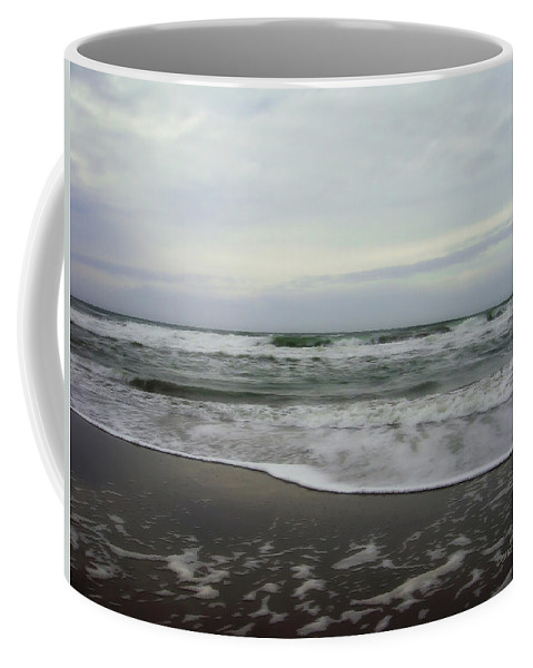 San Francisco Beach Coffee Mug featuring the photograph Along The Great Highway by Donna Blackhall