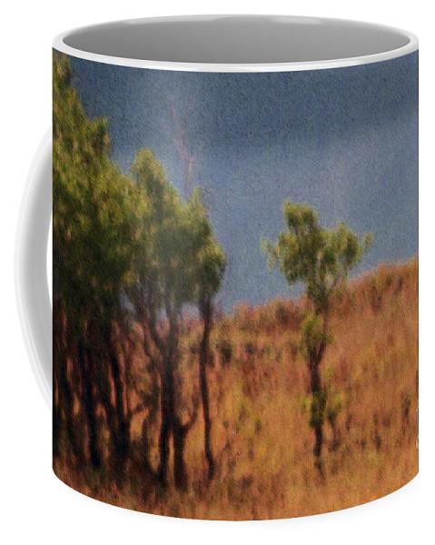 Field Coffee Mug featuring the digital art Along The Lake by Richard Rizzo