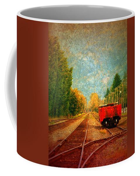 Railway Tracks Coffee Mug featuring the photograph Along The Tracks by Tara Turner