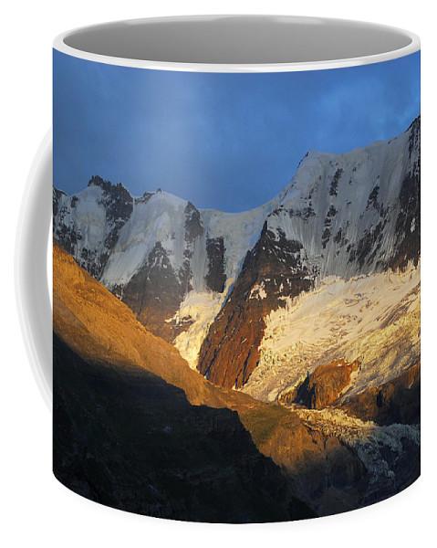 Murren Coffee Mug featuring the photograph Alpenglow On The Swiss Alps Near Murren by Anne Keiser