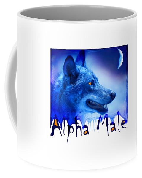 Wolf Coffee Mug featuring the photograph Alpha Male by Mal Bray