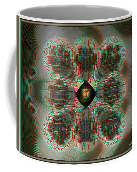 3d Coffee Mug featuring the photograph Alpha Waves - View With Red-cyan 3d Glasses by Brian Wallace