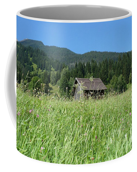 Alpine Coffee Mug featuring the photograph Alpine Meadow by Carol Groenen