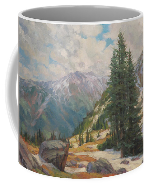 Wilderness Coffee Mug featuring the painting Alpine Spring by Steve Henderson