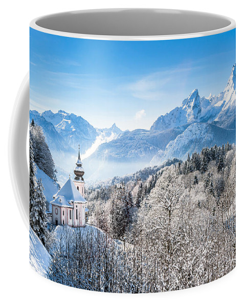 Alpen Coffee Mug featuring the photograph Alpine Winterdreams by JR Photography