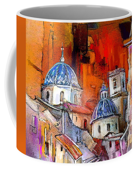 Altea Painting Coffee Mug featuring the painting Altea 03 by Miki De Goodaboom