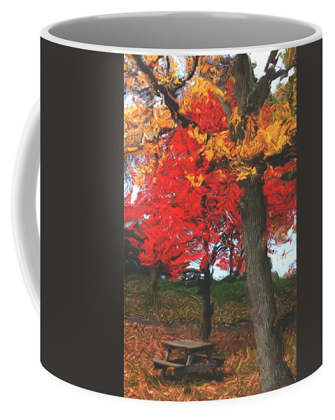 Abstract Digital Photo Coffee Mug featuring the digital art Altered State In The Park by David Lane