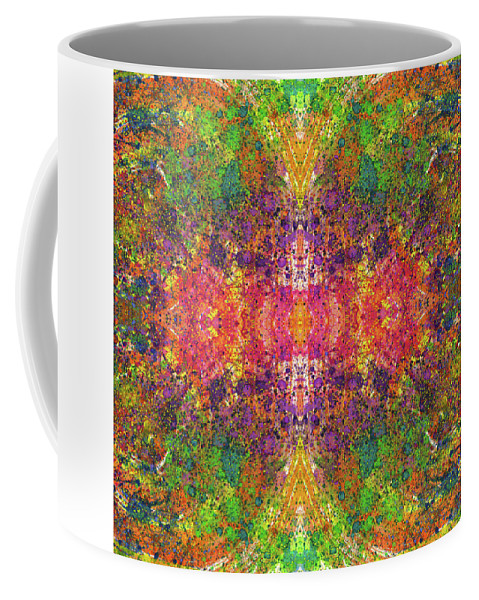 Abstract Coffee Mug featuring the mixed media Altered States Of Consciousness #1534 by Rainbow Artist Orlando L