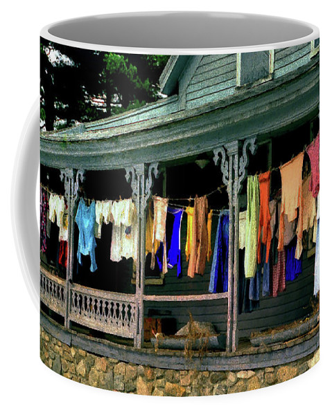 Color Coffee Mug featuring the photograph Alton Washday Impressions No 3 by Wayne King
