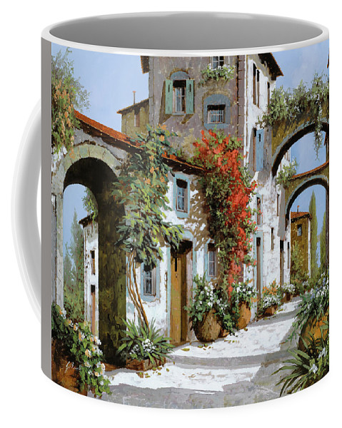 Arches Coffee Mug featuring the painting Altri Archi by Guido Borelli