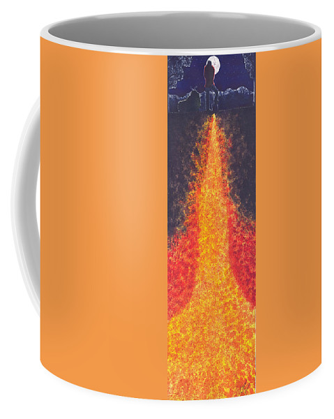 Lava Coffee Mug featuring the painting Always Call Before Digging by Catherine G McElroy