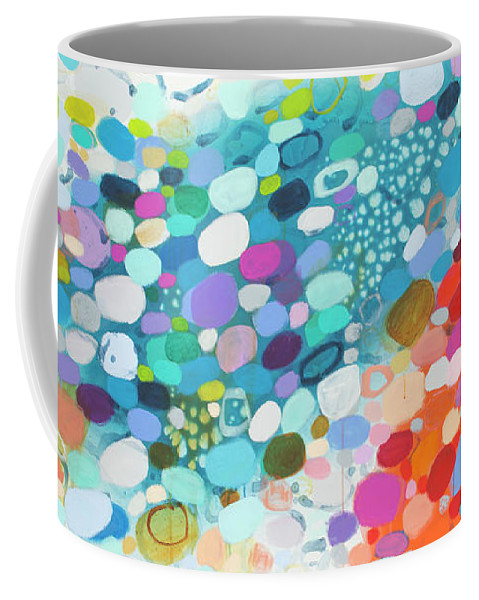 Abstract Coffee Mug featuring the painting Always Looking For True Love by Claire Desjardins