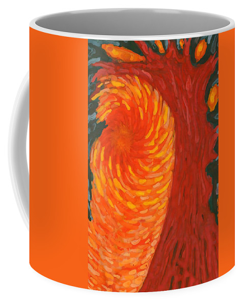 Colour Coffee Mug featuring the painting Always Near You by Wojtek Kowalski