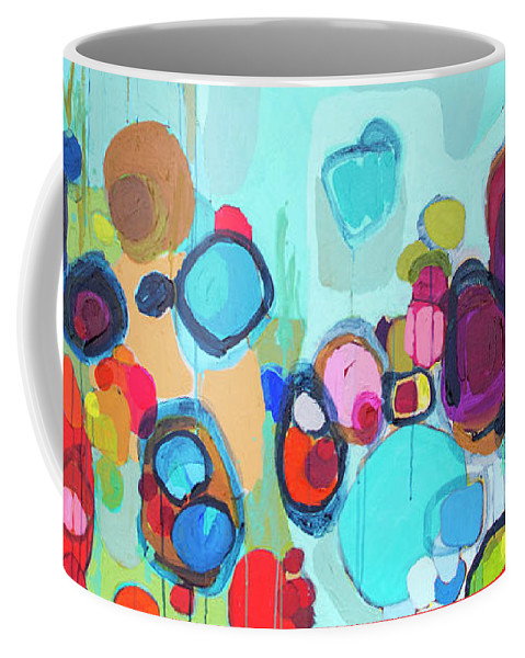 Abstract Coffee Mug featuring the painting Always Will Be by Claire Desjardins