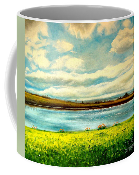 Landscape Coffee Mug featuring the painting Am I Dreaming by Elizabeth Robinette Tyndall