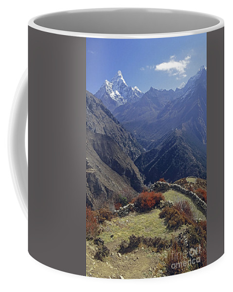 Prott Coffee Mug featuring the photograph Ama Dablam Nepal In November by Rudi Prott