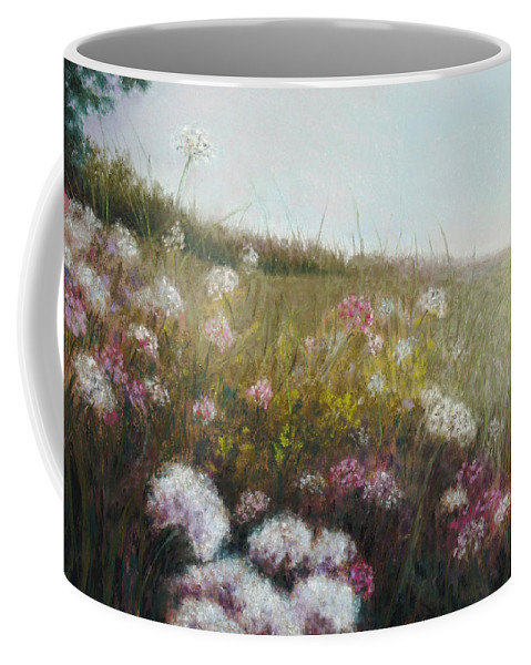Landscape Coffee Mug featuring the painting Amanda by Susan Jenkins