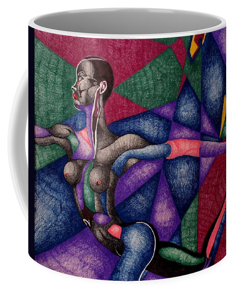 Women Coffee Mug featuring the drawing Amazing Grace by Nelson F Martinez