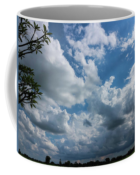 Sky Coffee Mug featuring the photograph Amazing Sky by Andrea Dalla Bona