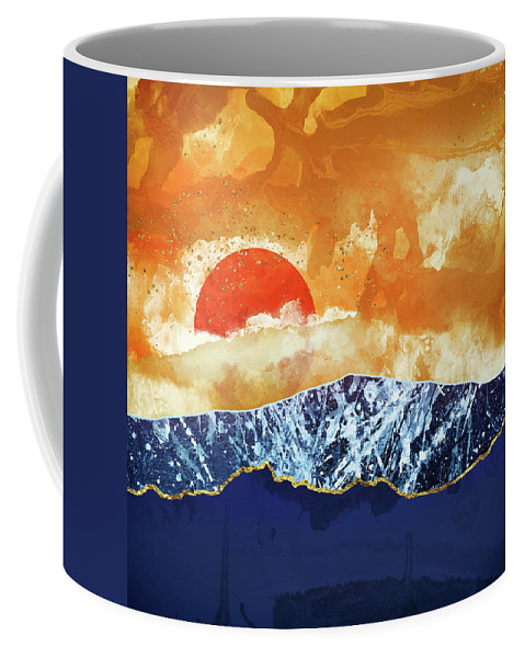 Amber Coffee Mug featuring the digital art Amber Dusk by Katherine Smit