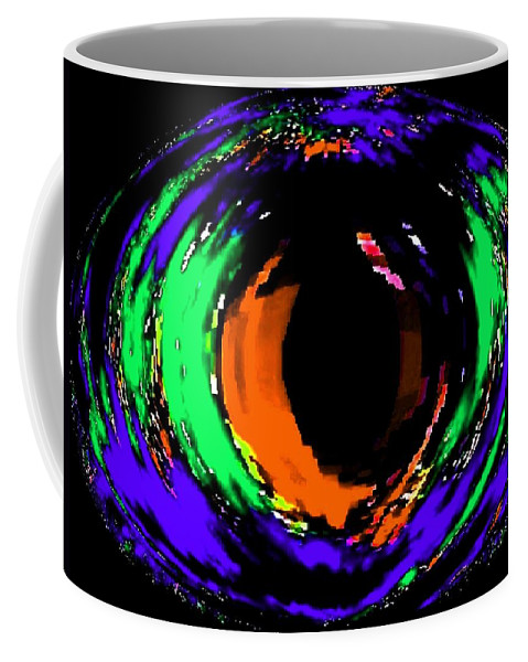 Abstract Coffee Mug featuring the digital art Amber Eye by Will Borden
