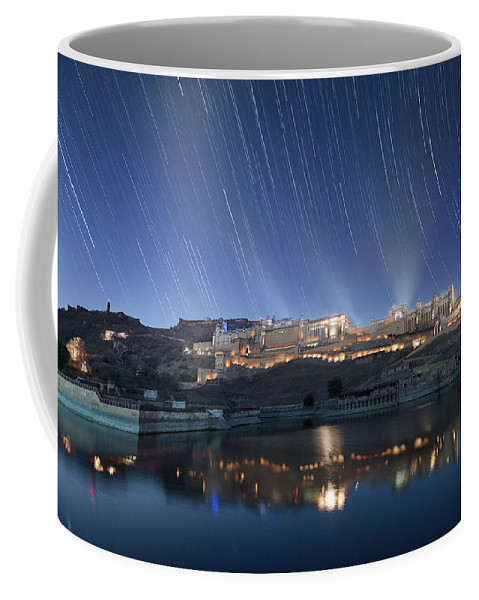 Coffee Mug featuring the photograph Amber Fort After Sunset by Pradeep Raja Prints