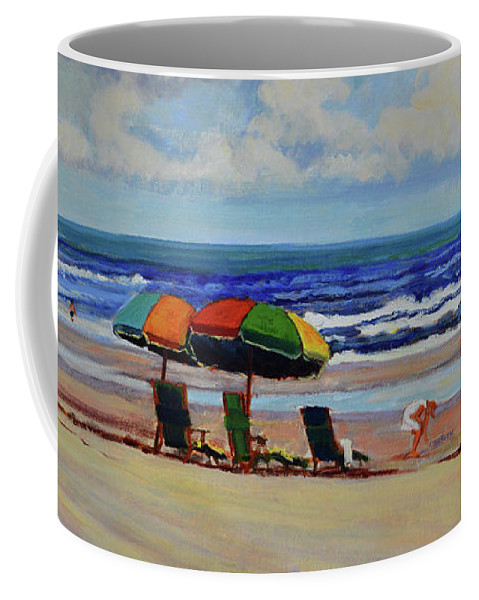 Impressionism Coffee Mug featuring the painting Amelia Afternoon by Keith Burgess