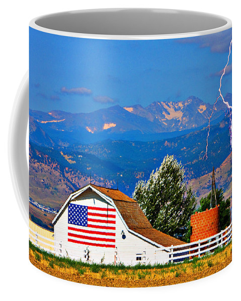 Lightning Coffee Mug featuring the photograph America The Beautiful by James BO Insogna