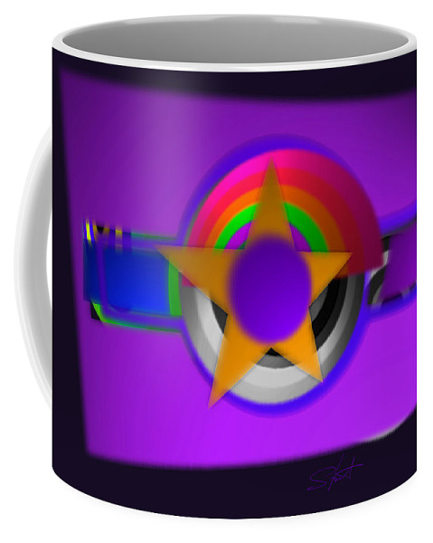 Usaaf Coffee Mug featuring the painting American 3d by Charles Stuart