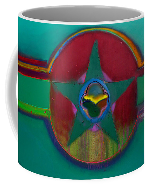 Landscape Coffee Mug featuring the painting American Army Landscape by Charles Stuart