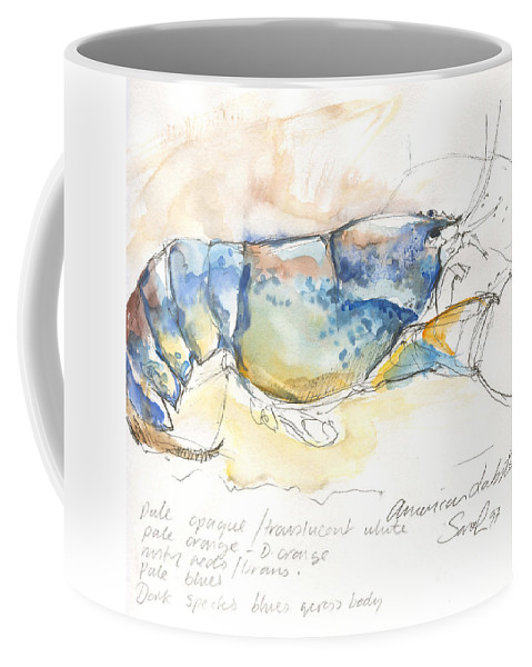 Lobster Coffee Mug featuring the painting American Blue Lobster by Sarah Madsen