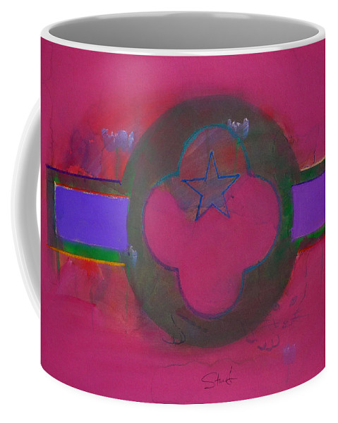 Star Coffee Mug featuring the painting American Cats And Poppies by Charles Stuart