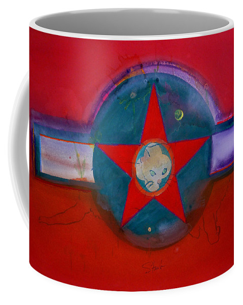 Star Coffee Mug featuring the painting American Chinoiserie Cat by Charles Stuart