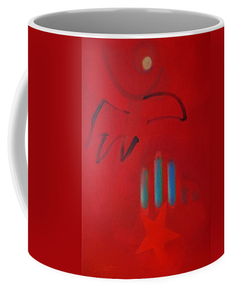 Native American Coffee Mug featuring the painting American Eagle by Charles Stuart