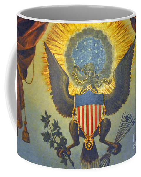 United Coffee Mug featuring the photograph American Eagle by Jost Houk