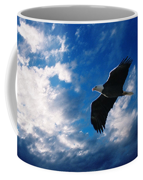 American Bald Eagle Coffee Mug featuring the digital art American Eagle by Steve Karol