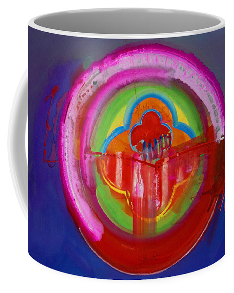 Button Coffee Mug featuring the painting American Evangelical by Charles Stuart